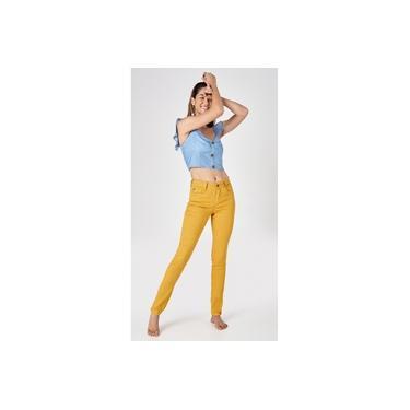 Calça Jeans Express Skinny Color Mostarda