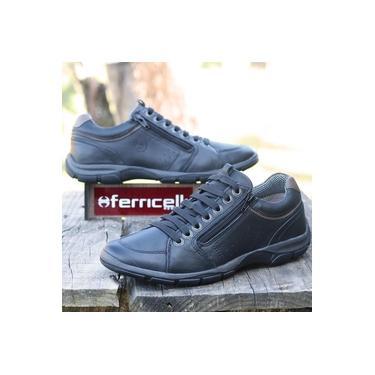 Sapatenis Ferricelli Preto/Concreto/Concreto Masculino Zr42511