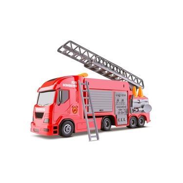 Imagem de Caminhão Bombeiro Grande Com Escada E Acessórios 6720 - Silmar Brinquedos