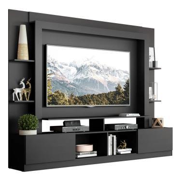 Imagem de Rack Estante C/ Painel E Suporte Tv 65' E 2 Portas Oslo Multimóveis Preto
