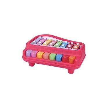 Imagem de Brinquedo Piano Xilofone Musical Educativo Com Acessórios