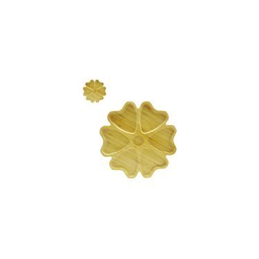 Imagem de Petisqueira De Bambu Redonda Modelo Flor Com 7 Divisórias