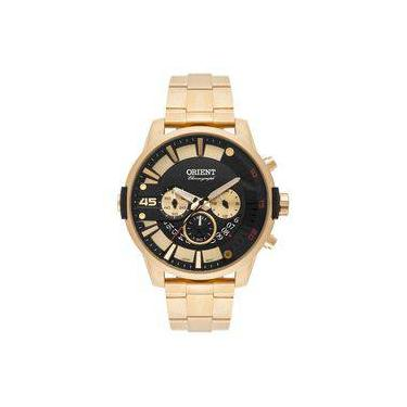 e1af5f9b1d0 Relogio Masculino Orient Cronografo Dourado com Data