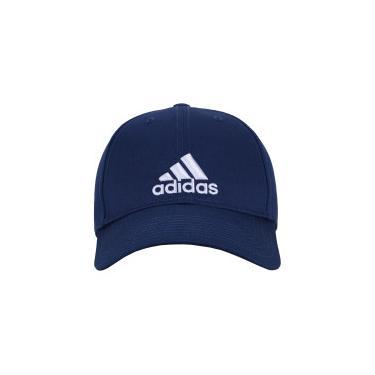 Boné Aba Curva adidas Ess Cotton - Strapback - Adulto - AZUL ESC BRANCO  adidas f73829a38d475