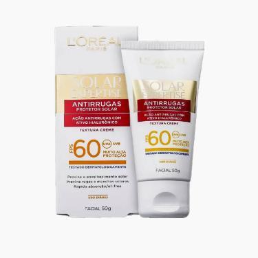 Protetor Solar Facial Loreal Expertise Antirrugas com Cor FPS60 L'Oréal 50g