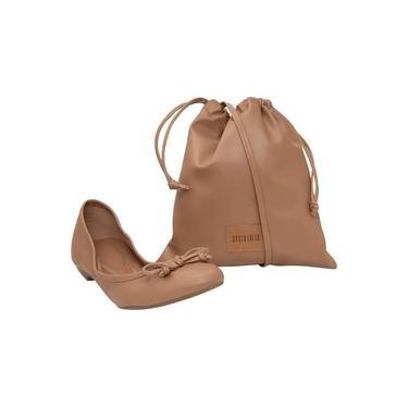 Sapato Santa Lolla Feminino Santorine castor c/ bolsa 03ED