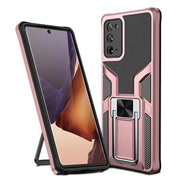 MOONCASE Capa para Samsung Galaxy Note 20, suporte magnético para carro, capa protetora à prova de choque para Samsung Galaxy Note 20 de 6,5 polegadas - ouro rosa