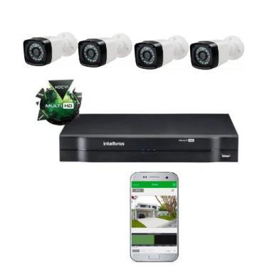 Imagem de Kit Câmeras De Segurança Residencial Dvr Intelbras Mhdx Full Hd