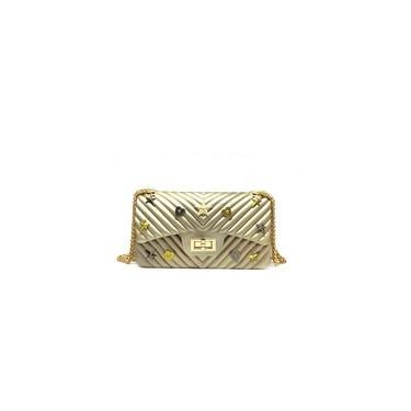 Imagem de Bolsa Pvc Pequenq Pins Miss Dourado