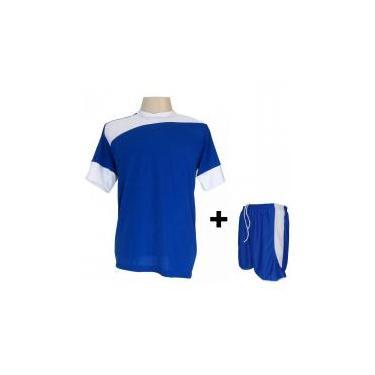 58f4b3d7b8 Uniforme Esportivo com 14 camisas modelo Sporting Royal Branco + 14 calções  modelo Copa +