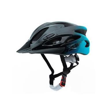 Capacete Tsw Raptor Bike Ciclismo com LED e Viseira Tamanho G 57/61 Cm Com Regulagem Preto e Azul