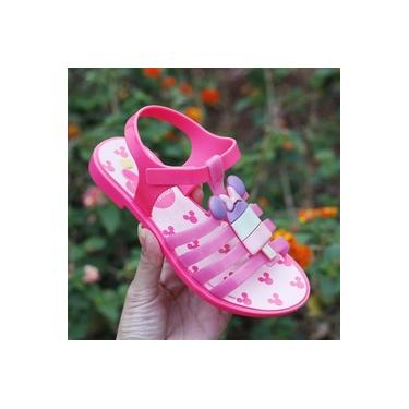 Sandalia Minnie Grendene Rosa/Rosa Infantil 22110-Ice Pop