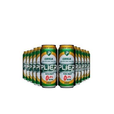 Cerveja sem álcool Malzbier Zero - Plier - Lata 350ml - Nacional - 12 ud