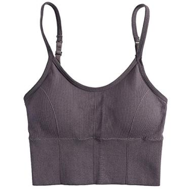 Sutiã feminino sem fio envolto no peito esportivo yoga roupa íntima sutiã fitness sutiã elástico roupa íntima respirável (roxo)