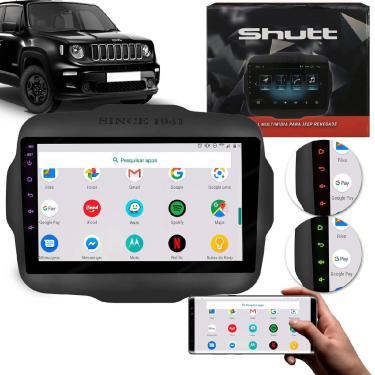 Central Multimídia Renegade Pcd 2015 A 2020 9' Tv Digital Espelhamento Bluetooth Gps Wi-Fi Shutt