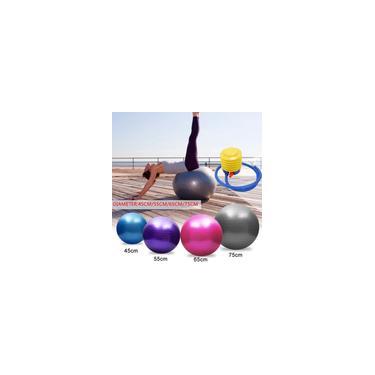 Bola de pvc de 45/55/65/75 de espessura à prova de explosão 150 kg Capacidade de rolamento Bola de ioga Bola de Pilates Bola de ginástica Ginásio Bola de massagem Exercício Capacidade de equilíbrio Bola de fitness com bomba de ar (Cor: Rosa / Azul / Prata / Roxo)