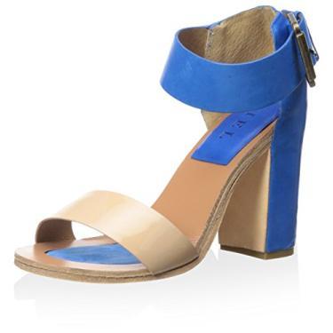 Fiel Sandália feminina Kea com tira no tornozelo, Nude/ Blue, 8