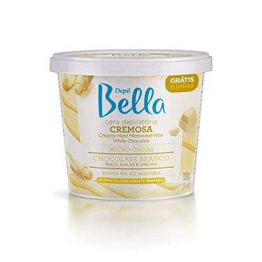 Cera Micro-Ondas Cremosa Chocolate Branco Depil Bella 100g, Depil Bella
