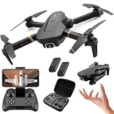 Imagem de XFTOPSE V4 Drone com Câmera, Mini Drone Profissional 4K HD com 2.4G WIFI FPV Vídeo ao Vivo, Tempo de Vôo de 20 Minutos, Dobrável RC Quadcopter para Iniciantes, Follow Me, 360 ° Flip, Preto