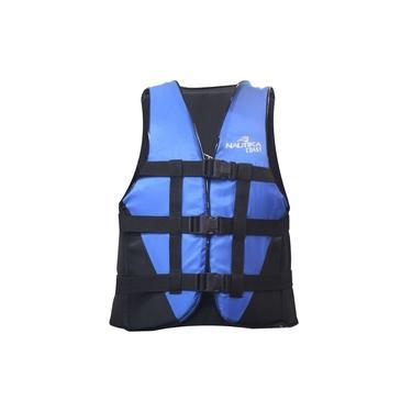 Colete Salva Vidas com Trava Lock Coast 40kg Azul e Preto Nautika