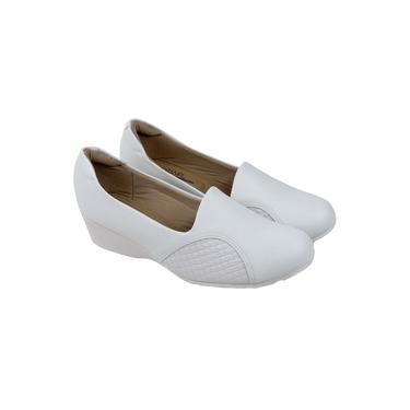 Sapato Scarpin Modare Enfermagem Anabela Joanete - Branco