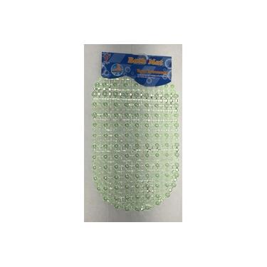 Imagem de Tapete de banheiro antiderrapante para box com ventosas Verde