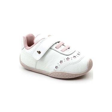 Sapatênis infantil Bibi Fisio Flex 3.0 FN119 Branco/Rosa