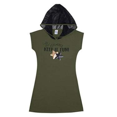 Vestido Juvenil Menina 12 ao 18 Pulla Bulla Ref. 44412 Cor:Verde;Tamanho:12