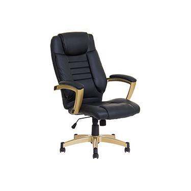 Cadeira Presidente Office Catalunha Couríssimo Preta - Rivatti
