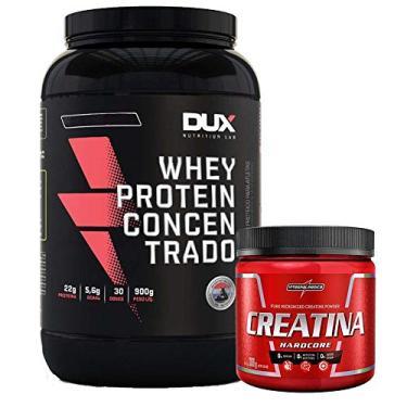 Whey Protein concentrado 900g Dux + Creatina 300g Integral (CHOCOLATE)