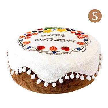 Cama de pelúcia para gatos pequenos Cachorros em forma de bolo Almofada para cachorros Canil portátil Cesta quente para animais de estimação Tapete de suprimentos