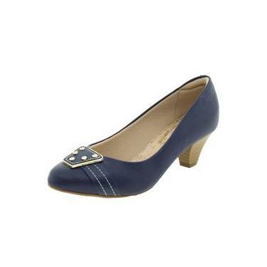 8f4cf3f452 Sapato Feminino Salto Baixo Marinho Modare - 7005324