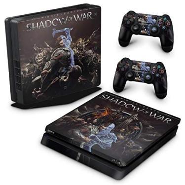 Skin Adesivo para PS4 Slim - Shadow Of War