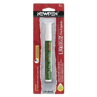 Giz líquido redondo 4,5mm branco 05.545 Newpen BT 1 UN
