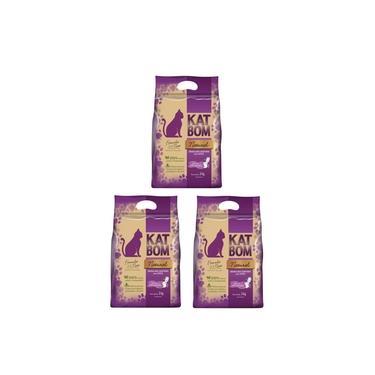 3 Kat Bom Natural Granulado Sanitário para Gatos - FVO 3kg