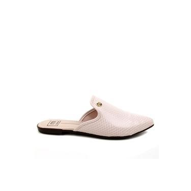 Sapato Mule Moleca Verniz escama creme 5444.300