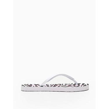 Chinelo Calvin Klein,Estampado,Feminino,Branco,35/36