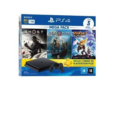 Imagem de Console PS4 Slim 1TB + Controle Dualshock 4 + 3 Jogos + 3 meses PlayStation Plus (Bundle 18) - Sony