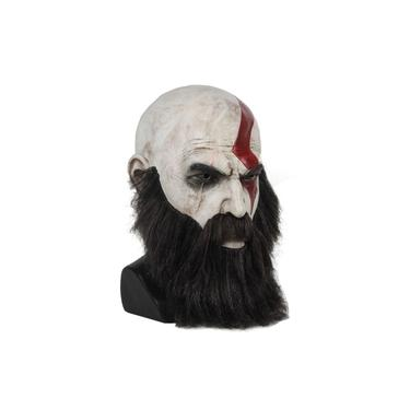 Kratos God Of War Com Barba Mascara Cosplay Latex Realista