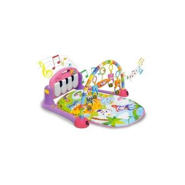 Imagem de Ginásio Divertido Multifunção do Bebê Piano Rosa Kitstar 612