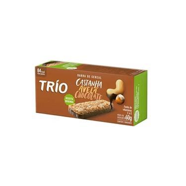 Barra de Cereais Trio Castanha, Avelã e Chocolate com 3 Unidades de 20g cada