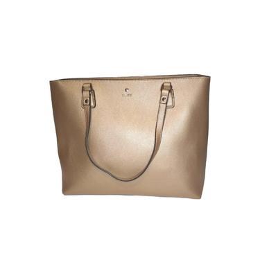 Bolsa Feminina Bliss Shopping Bag com Zíper Dourada