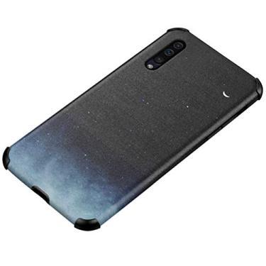 """MOONCASE Capa para Galaxy A50, TPU durável macio 360 graus sem ângulo morto resistente a impactos capa à prova de choque para Samsung Galaxy A50 6,5"""" - Preto e Azul"""