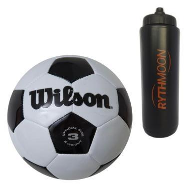 kit Bola Futebol Tradicional No. 3 Oficial - Wilson + Squeeze Automático 1lt 47f33caf705e1