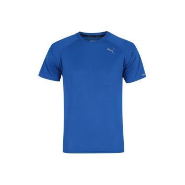 b56d8a6525 Camiseta Puma Core Run SS - Masculina - AZUL Puma