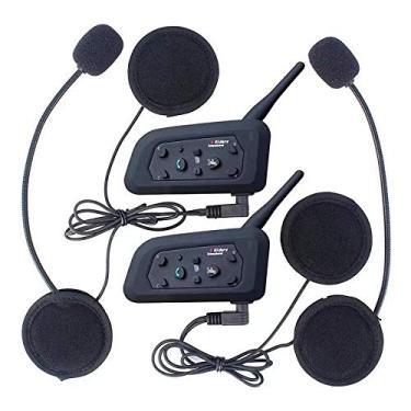 Intercomunicador Bluetooth Moto V6 Plus Capacete Kit 2x par Gps mp3 Wlxy