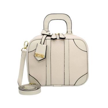 Bolsa Pequena Transversal Quadrada Selten Creme  feminino