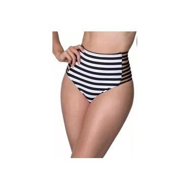 Biquini Fio Hot Pants Cintura Alta Moda Praia Verão