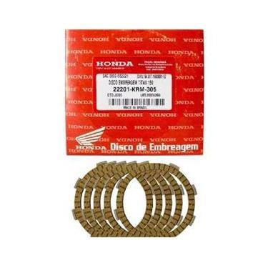 Kit Embreagem Discos Titan125/Titan150/Bros150