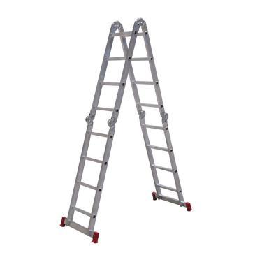 Escada Articulada Botafogo Alumínio, 13 em 1, 4x4, 16 Degraus
